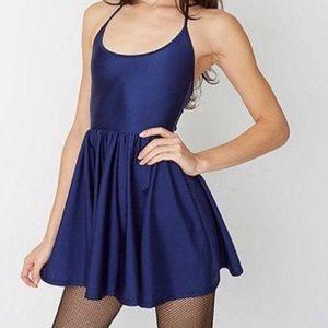 American Apparel blue nylon tricot skater dress